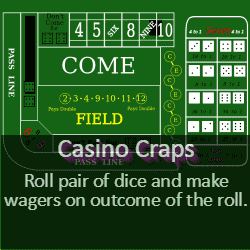 Play Casino Craps Game Online