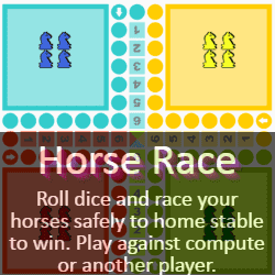 Play cá ngựa (Horse Race) Dice Ludo Game Online