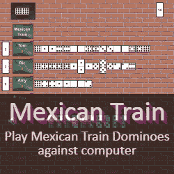 Play Mexican Train Dominoes Game Online