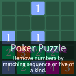Play Poker Puzzle Puzzle Game Online