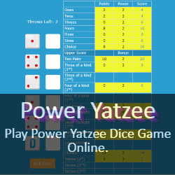 Play Power Yatzee Dice Game Online