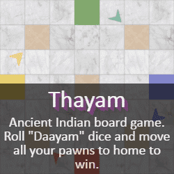 Play Thayam (Dayakattai) Dice Game Online