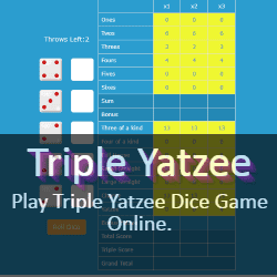 Play Triple Yatzee Dice Game Online